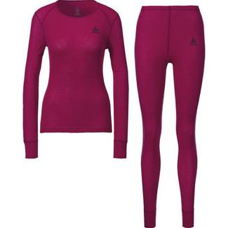 ODLO Set Active Warm cerise Damen