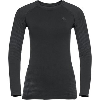 ODLO BL Top Crew neck I/s Performan black/new odlo graphite grey Damen